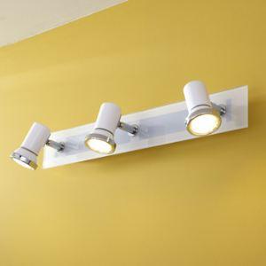 Eglo Barre triple spots Tamara Led orientables pour salle de bain en métal (46 cm)