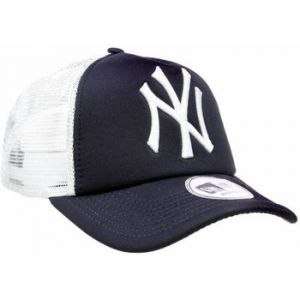 A New Era Casquette Clean Trucker MLB NY Navy Blanc