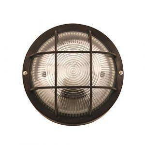 Velamp Plafonnier D'exterieur - BUBBLE: hublot rond en verre et plastique. E27 max 60W - Noir