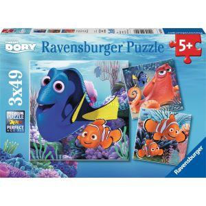 Ravensburger 3 puzzles Le monde de Dory (3 x 49 pièces)