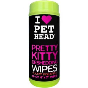 Pet Head Pretty Kitty 50 lingettes pour chats ananas