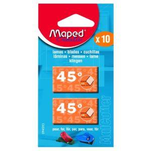 Maped 0945930 - 10 lames de rechanges pour Matcutter 45 degré