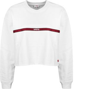 Levi's Graphic Raw Cut Hem Sweatshirt type tape white (56340)