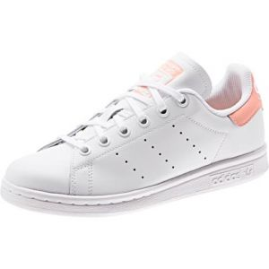 Adidas Stan Smith J, Sneakers Basses Mixte Enfant, Multicolore FTWR White/Glow Pink Ee7571, 36 EU