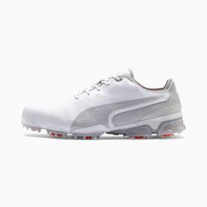 Puma Chaussure de golf IGNITE PROADAPT pour Homme, Blanc/Gris, Taille 45, Chaussures