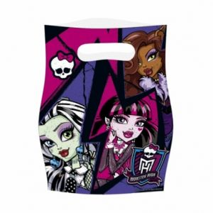 6 sachets en plastique Monster High