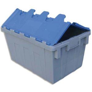 Viso Bac de stockage navette avec couvercle en plastique
