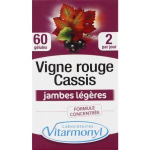Laboratoires Vitarmonyl Vigne rouge cassis, complément alimentaire formule concentrée