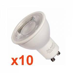 Silamp Ampoule LED GU10 8W 220V SMD2835 PAR16 10LED 80 (PACK DE 10) - couleur eclairage : Blanc Neutre 4000K - 5500K