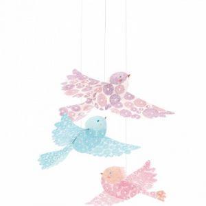 Djeco Mobiles en papier Oiseaux à paillettes