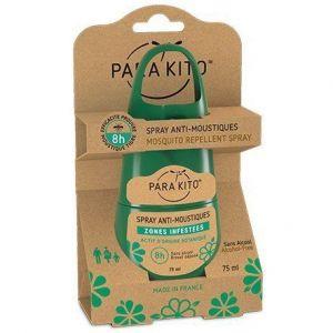 Parakito Spray répulsif anti-moustiques zones infestées