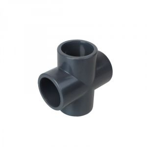 Linxor Croix en PVC PN 16 - 63 mm - Femelle - Gris
