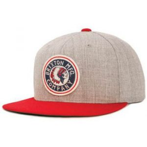 Brixton Casquette Rival Indian Snapback Gris Rouge