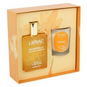 Lierac Coffret huile sèche tonifiante Sensorielle 100 ml + Bougie Esteban offerte