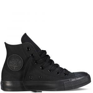 Converse Chaussures casual unisexes Chuck Taylor All Star Hautes Toile Noir - Taille 46,5