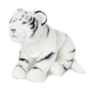 WWF Peluche Tigre blanc couché 41 cm