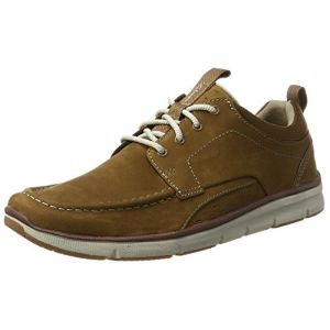 Clarks Orson Bay, Sneakers Basses Homme, Marron (Tan Nubuck-), 43 EU