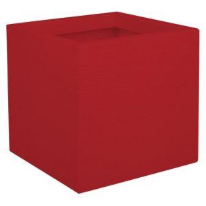 Eda Plastiques Pot de fleur carré Graphit Up Rouge rubis