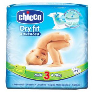Chicco Dry Fit taille 3 Midi 4-9 kg - 21 couches
