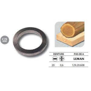 Leman 129.20.608 - 1 Rouleau de 50 mètres Lame scie à ruban en acier C75 20x0,6 pas de 8