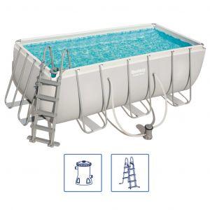 Bestway Jeu de piscine rectangulaire Power Steel 412x201x122 cm 56456