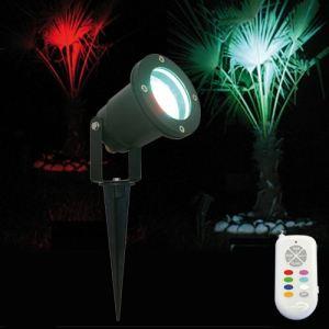 Lumihome RGB/GL28 - Spot piquet 28 leds RGB avec télécommande