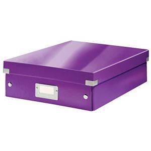 Leitz 6058-00-62 - Boîte de rangement Click & Store, moyen format avec compartiments, en PP, coloris violet