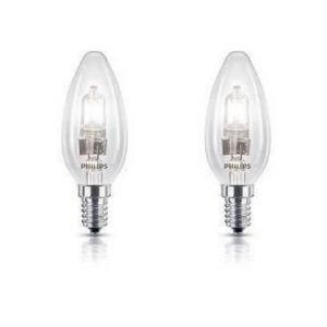 Philips 925646344210 - Ampoule Eco-Halogène Flamme Lisse Culot E14 42 Watts consommés (Equivalence incandescence 55W)