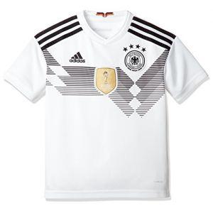 Adidas DFB Maillot Domicile WM 2018 Maillot de Football Enfant, Blanc/Noir, 128