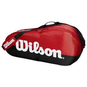 Wilson Team 1 Comp Red/Black Housse De Raquette Rouge - Noir