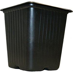 Vilmorin Pack de 20 Godets carrés noir en plastique 7cm