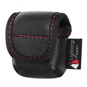 WeWoo Etui Casque / Ecouteurs noir pour Apple AirPods Creative sans fil Bluetooth écouteurs PU en cuir sac de protection Anti perte de rangement n'est pas inclus, taille: 6.6 * 6.6 * 2.5