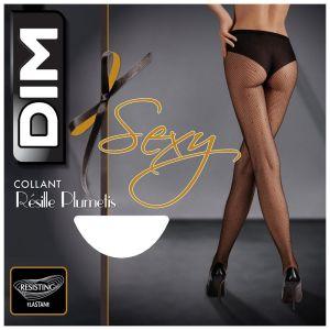 DIM Collant resille plumetis CHAUSSANT Sexy noir
