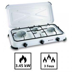 Kemper Plaque de cuisson gaz portable 3 feux
