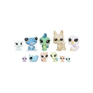 Hasbro Littlest PetShop - Multipack de 11 - Petits Compagnons