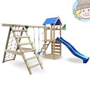 Image de Wickey Starflyer - Tour de jeux avec toboggan, balançoire avec bac à sable et accessoires