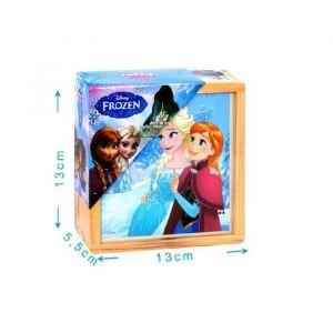 Mgm Boîte 9 cubes bois La Reine des neiges - 6 dessins