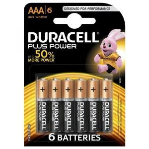 Duracell Iles Plus Power AAA X6 - Piles AAA Plus Power de piles alcalines à usages multiples