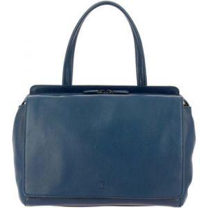 Dudu Grand Sac pour femme Elegant en cuir véritable Spacieux Double-poche extérieure avec Poignée et Bandoulière amovible Bleu