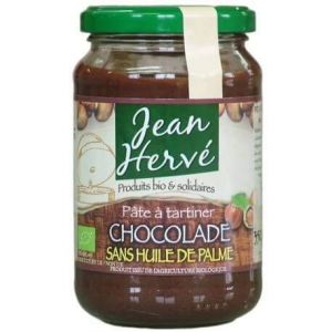 Jean Hervé Pate à tartiner Chocolade bio sans huile de palme 350g