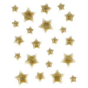 Artémio 22 étoiles en émail doré à paillettes