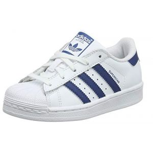 Adidas Chaussures enfant SUPERSTAR C / BLANC blanc - Taille 29,30,32,33
