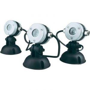Oase 50512 - Eclairage d'étang à LED 3 spots LunAqua Mini