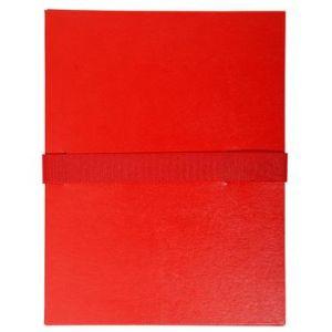 Exacompta 2645E - Chemise à dos extensible balacron, à sangle velcro, coloris rouge