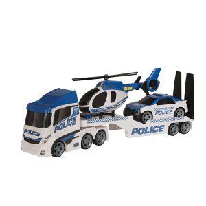 John World Grand transporteur de Police avec hélicoptère et voiture
