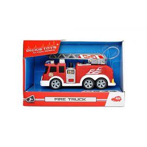 Dickie Toys 203302002-Camion de Pompier Action Series Fire Truck, rouge