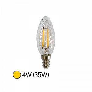 Vision-El Ampoule Led 4W (35W) E14 Filament Flamme Torsadée Blanc chaud 2700°K -