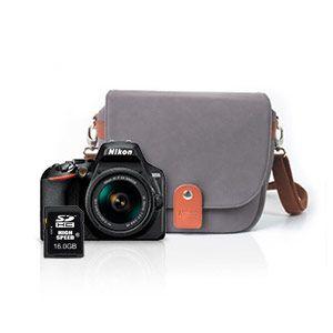 Nikon D3500 + AF-P DX 18-55 VR + Fourre-tout + Carte SD 16 Go