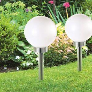 ProBache Lampe boule 30 cm led solaire X2