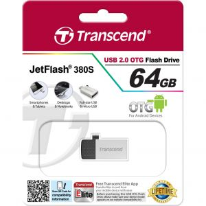Transcend TS64GJF380 - Clé USB 2.0 JetFlash 380 OTG 64 Go